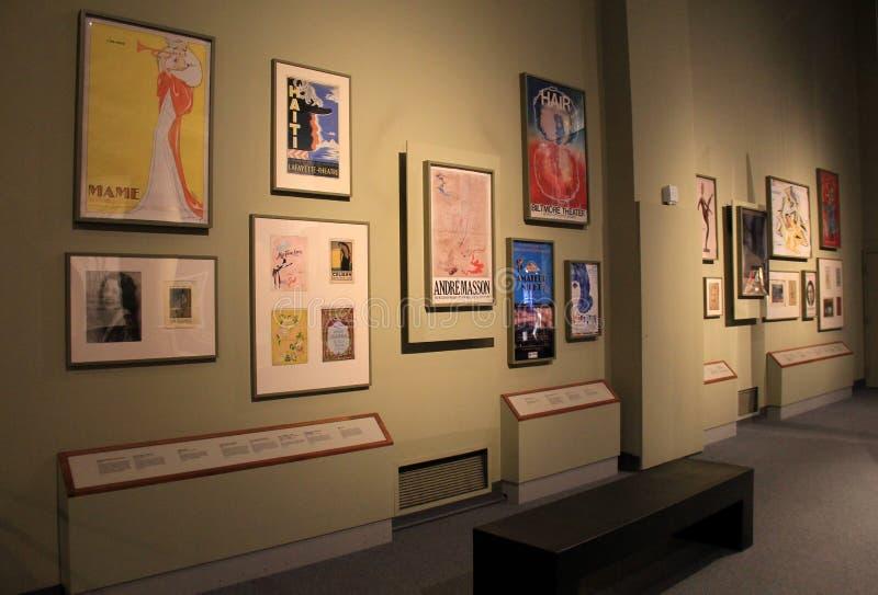 Collection d'affiches des Musées d'Art et des théâtres, musée d'état, Albany, 2016 photo stock