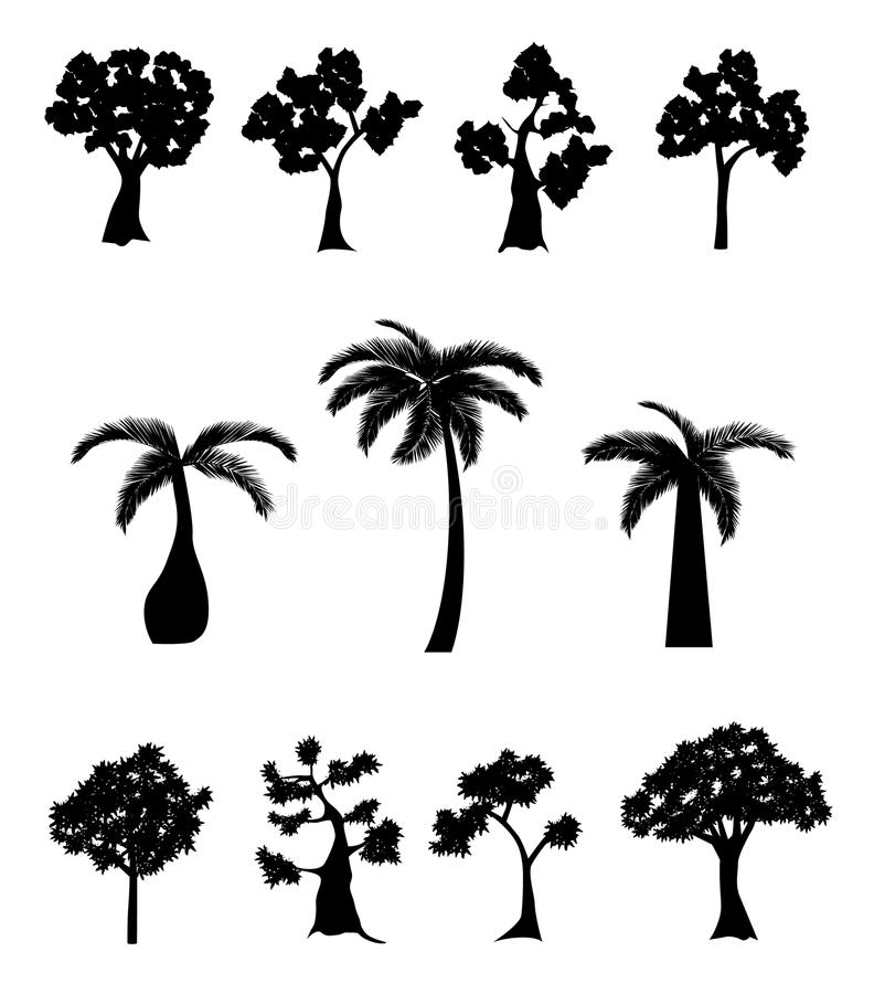 Collection d'arbre illustration libre de droits