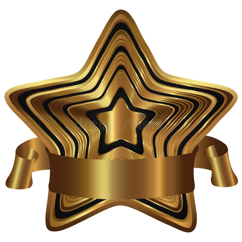 Collection d'or d'étoile photos stock