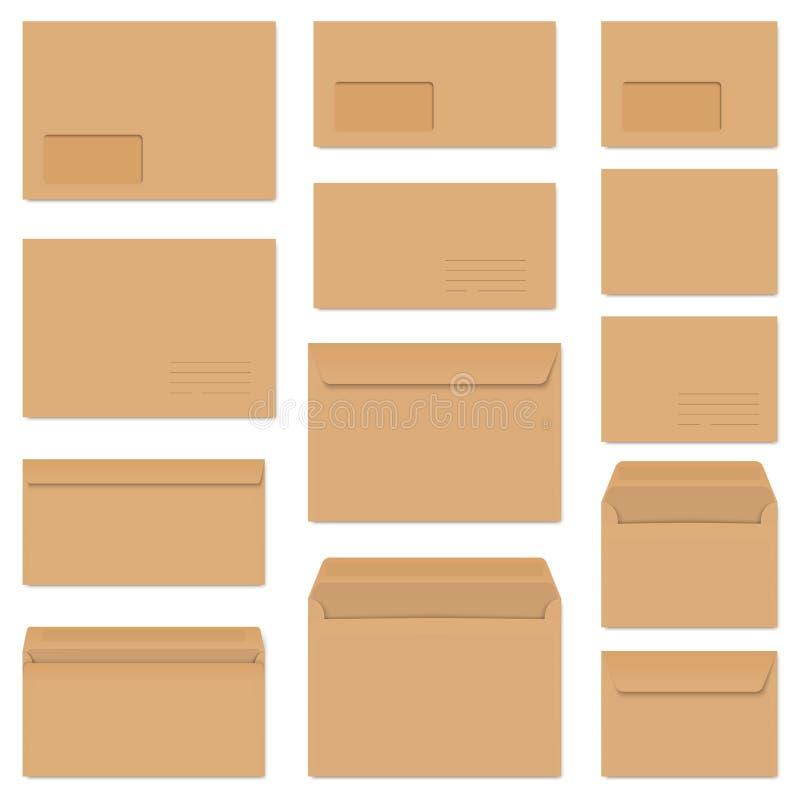 Collection d'enveloppes colorées illustration libre de droits