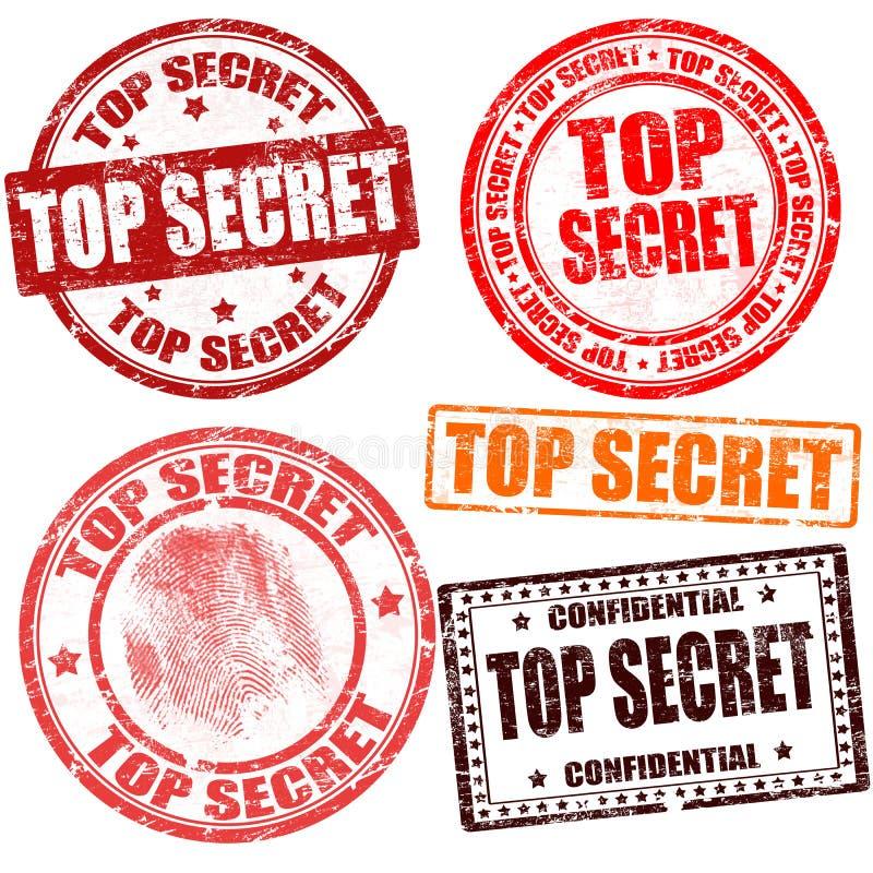 Collection d'estampille extrêmement secrète illustration de vecteur