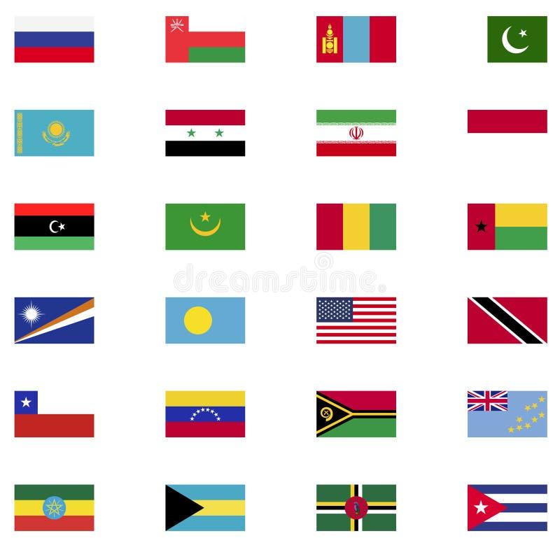 Collection d'icône de drapeau du monde illustration libre de droits