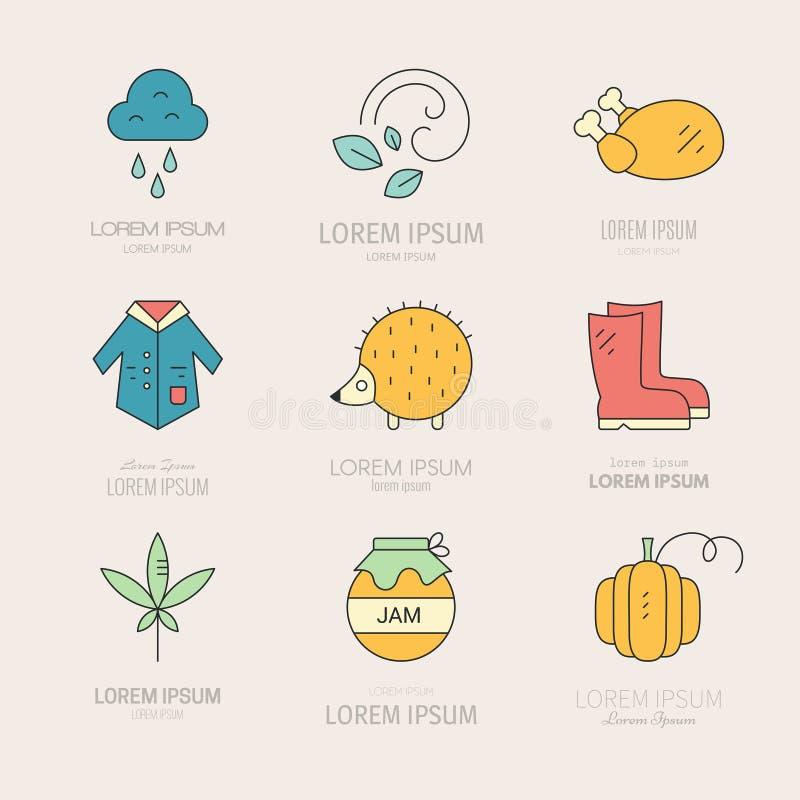 Collection d'icônes de chute illustration libre de droits