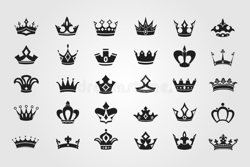 Collection d'icônes de couronne image stock