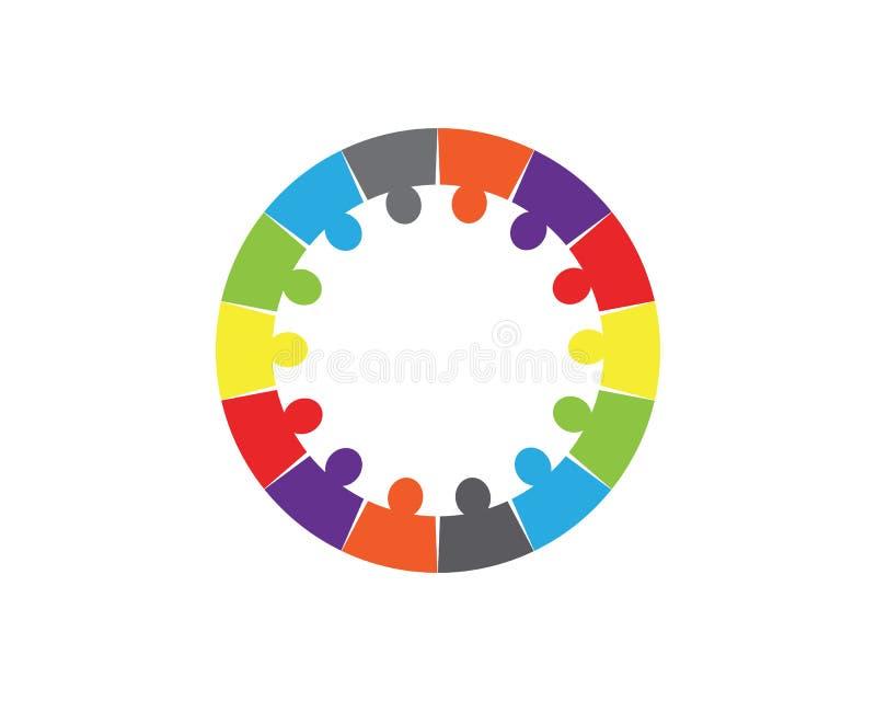 Collection d'icônes de personnes en cercle - dirigez l'engagement de concept illustration libre de droits