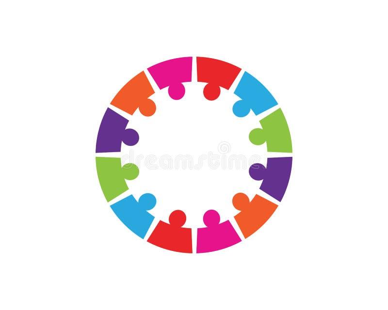 Collection d'icônes de personnes en cercle - dirigez l'engagement de concept illustration de vecteur