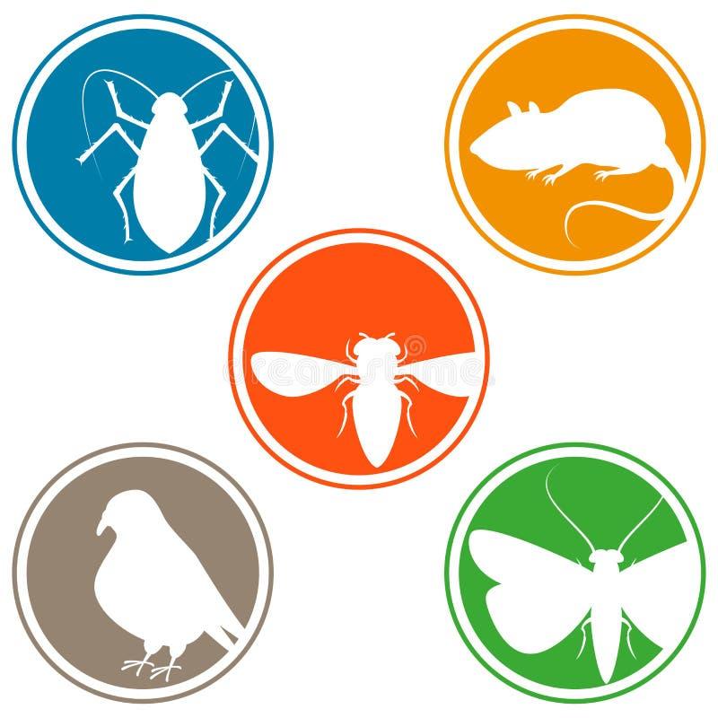 Collection d'icône de parasite illustration de vecteur