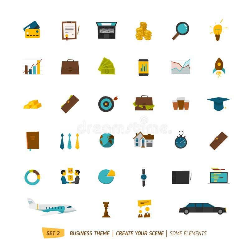 Collection d'icônes d'affaires illustration libre de droits