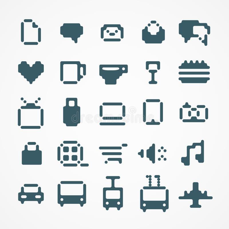 Collection d'icônes de Web de pixel. illustration libre de droits
