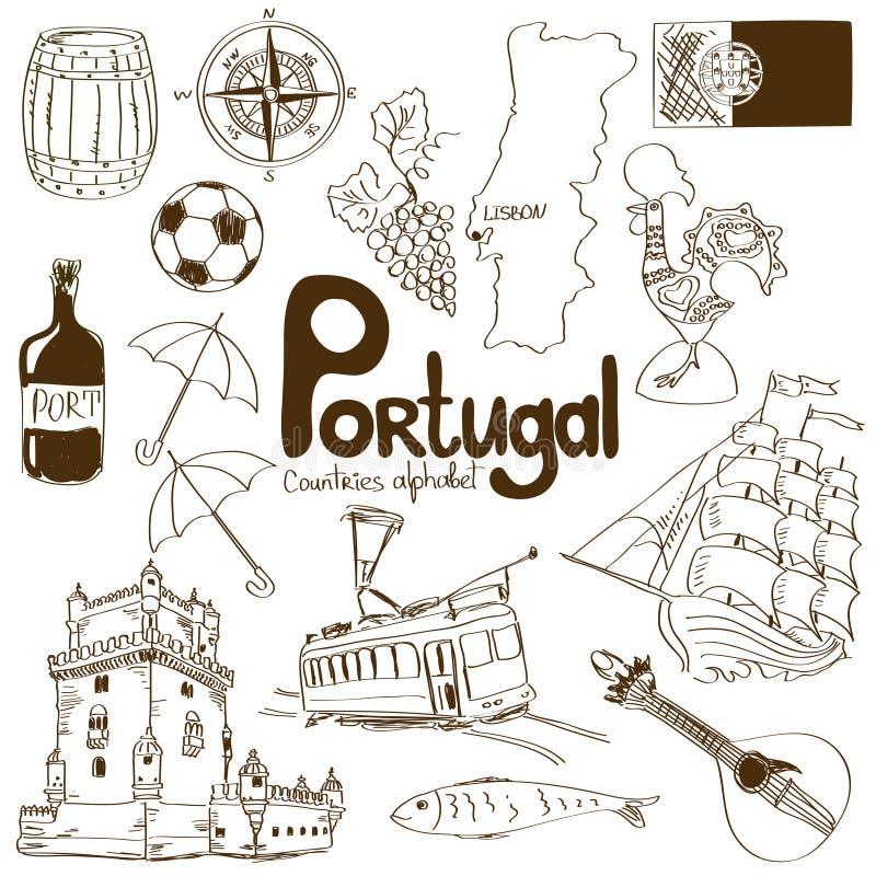 Collection d'icônes du Portugal illustration libre de droits