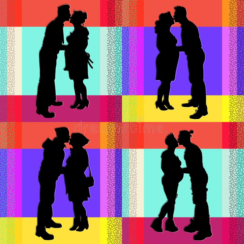 Collection d'images d'un couple enceinte illustration libre de droits