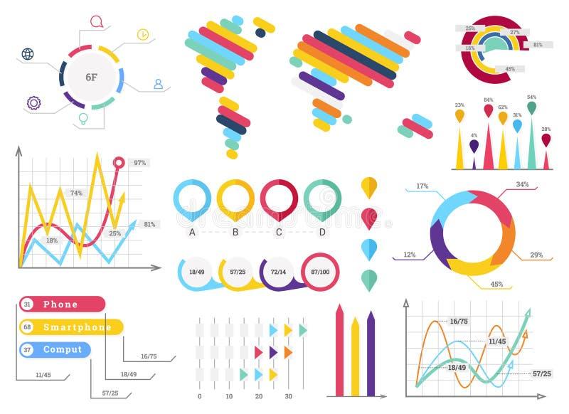Collection d'?l?ments d'Infographic - illustration de vecteur d'affaires dans le style plat de conception pour la pr?sentation, l illustration stock