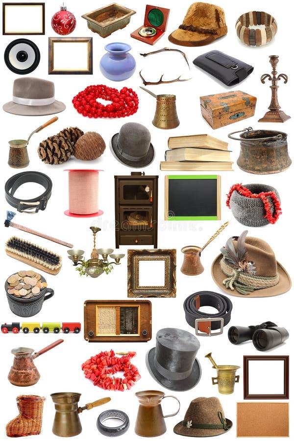 Collection d'objets de vintage images stock