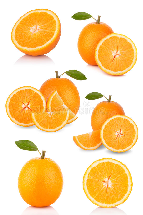 Collection d'oranges images stock