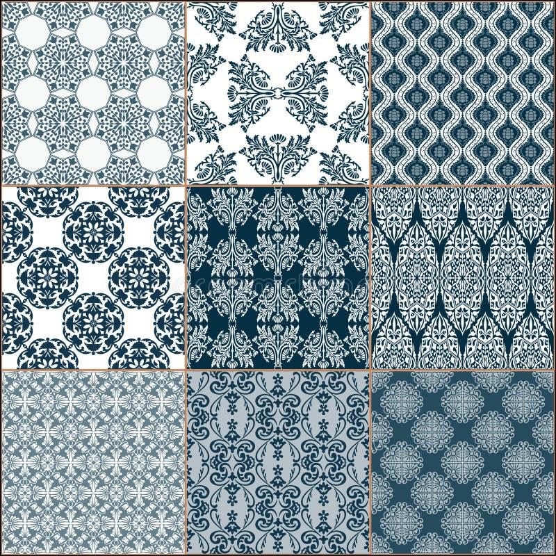 Collection d'ornement de plancher de tuiles illustration de vecteur