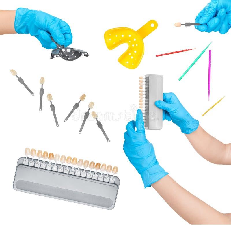Collection d'outils dentaires images libres de droits