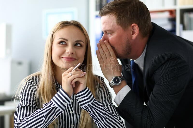 Collection data necessary for collaboration, tale. Collection data necessary for collaboration tale. Girl knows how to establish contacts with specialists stock images