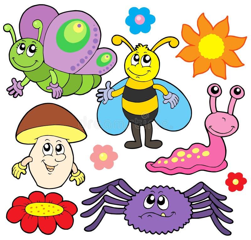collection de 6 animaux petite illustration de vecteur