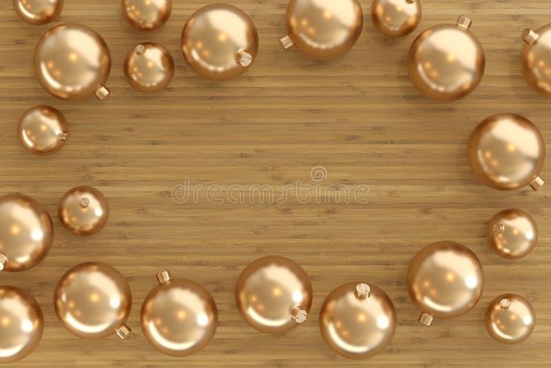 Collection de babioles d'or illustration libre de droits