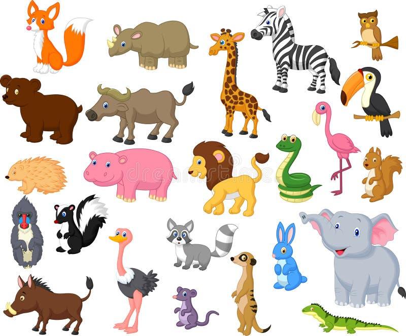 Collection de bande dessinée d'animal sauvage illustration stock