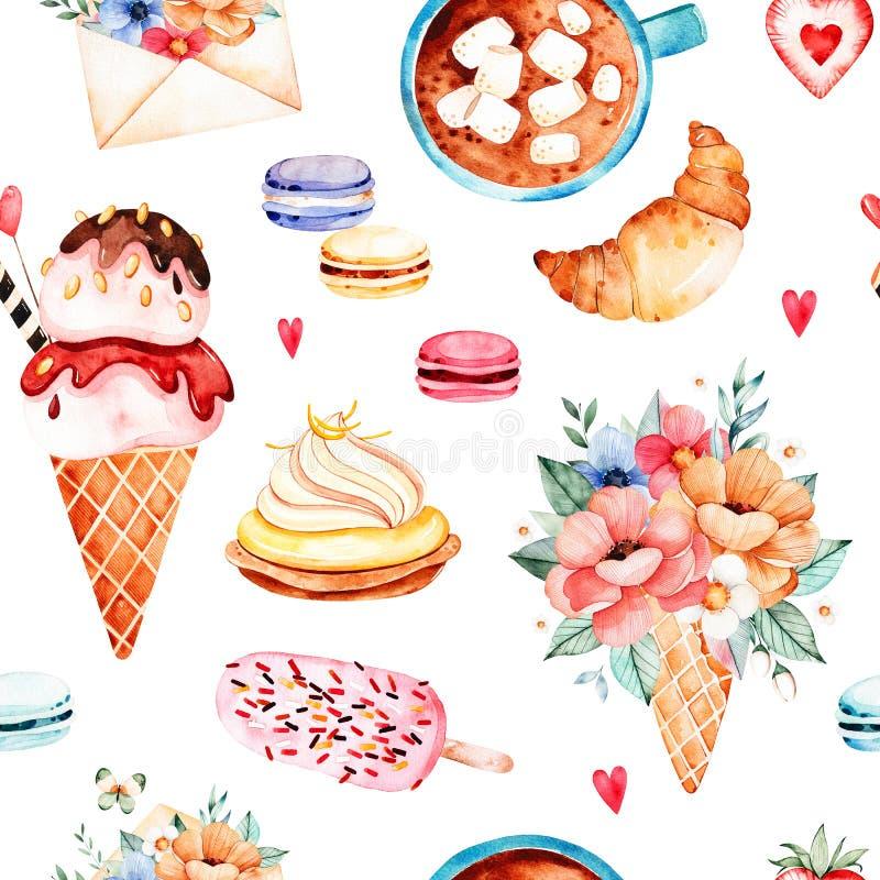 Collection de bonbons à aquarelle illustration libre de droits