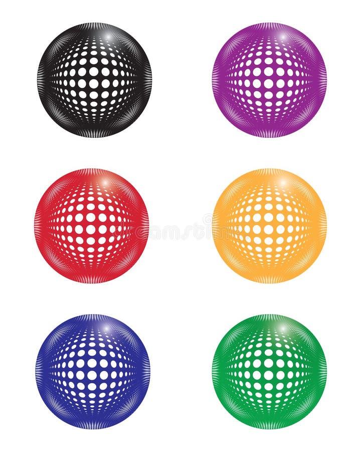 Collection de boules multicolores illustration de vecteur