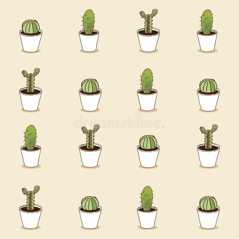 Collection de cactus Configuration de vecteur illustration libre de droits