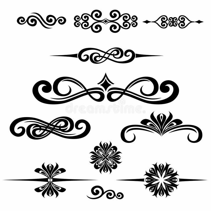 Collection de cadre tiré par la main de vintage pour la décoration des textes au VE illustration stock