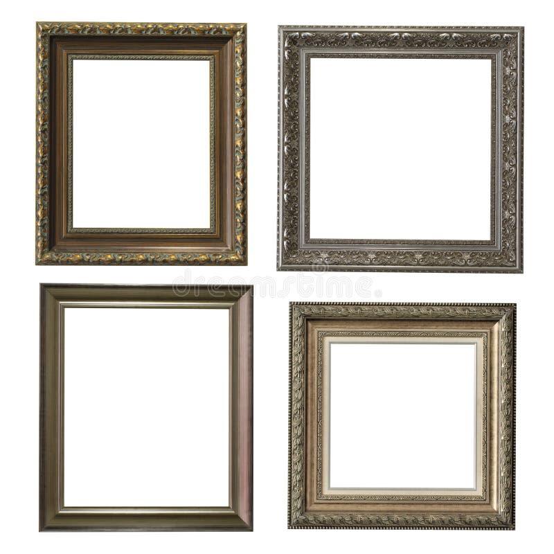Collection de cadres en bois image libre de droits
