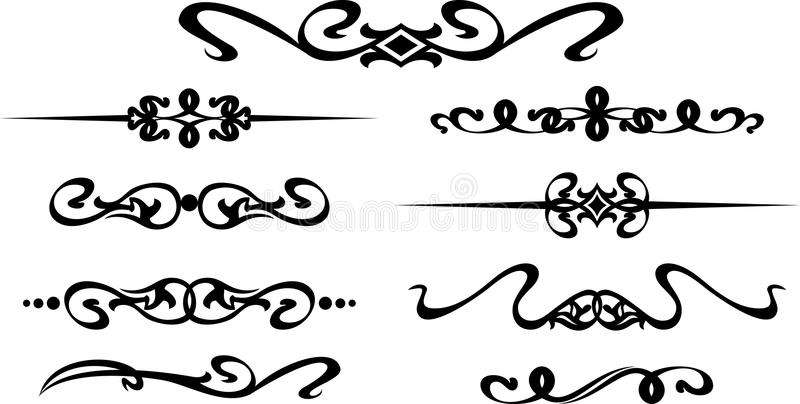 Collection de cadres modernes tirés par la main pour la décoration des textes illustration de vecteur