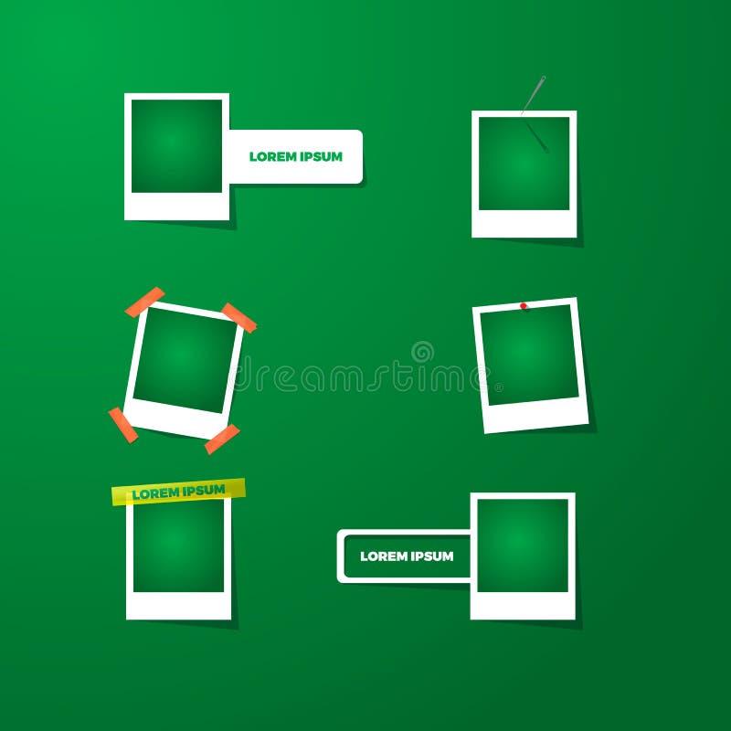 Collection de cadres vides de photo avec des effets d'ombre transparents Illustration de vecteur pour vos affaires illustration de vecteur