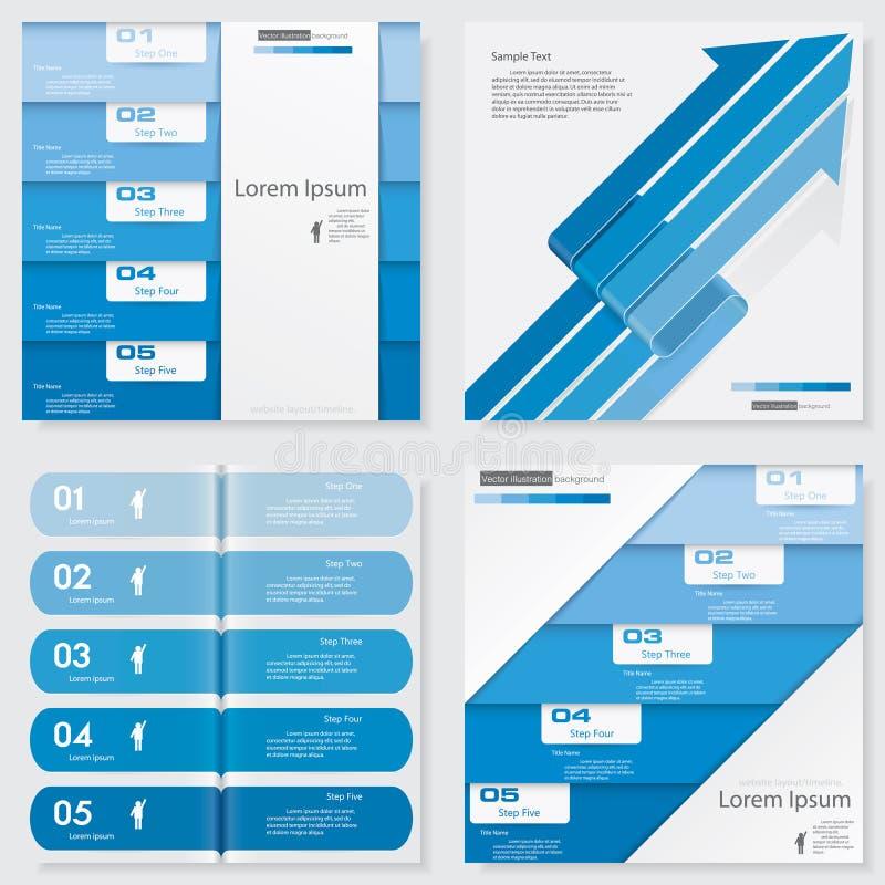 Collection de calibre propre de bannières de nombre de conception Vecteur illustration libre de droits