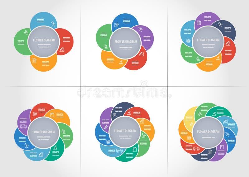 Collection de calibres de diagramme illustration de vecteur