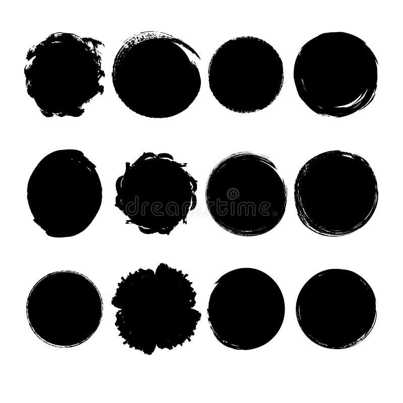 Collection de cercles tirés par la main illustration stock