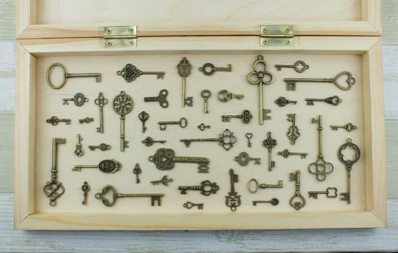 Collection de clés en métal photos stock