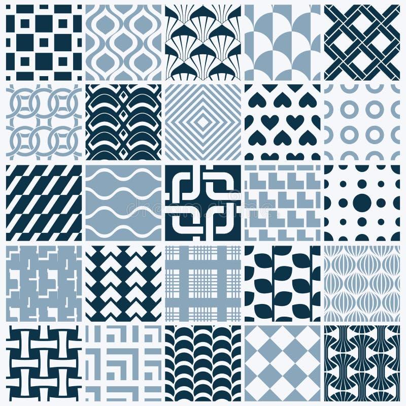 Collection de compositions sans couture d'abrégé sur vecteur, o symétrique illustration de vecteur