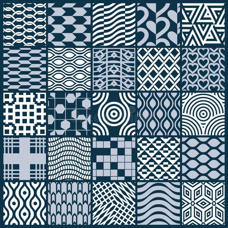 Collection de compositions sans couture d'abrégé sur vecteur, o symétrique illustration stock