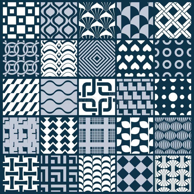 Collection de compositions sans couture d'abrégé sur vecteur, o symétrique illustration libre de droits