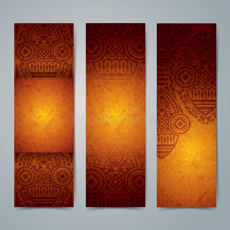 Collection de conception africaine de bannière illustration stock