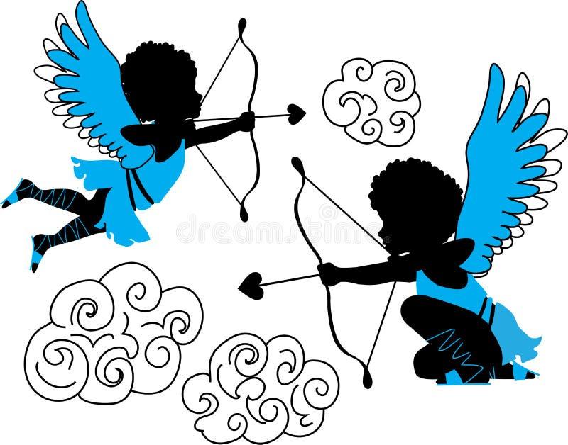Collection de cupidons illustration libre de droits