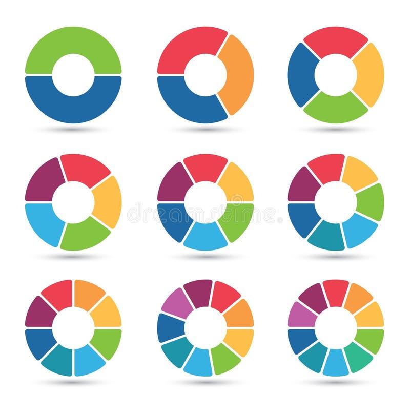 Collection de diagrammes circulaires illustration stock