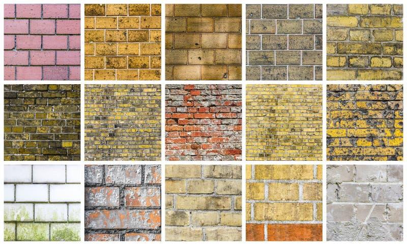 Collection de différents milieux de pierre et de mur images stock