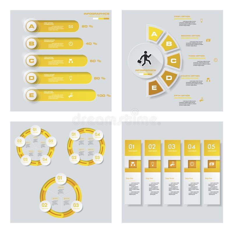 Download Collection De 4 Dispositions Jaunes De Calibre/graphique Ou De Site Web De Couleur Fond De Vecteur Illustration de Vecteur - Illustration du numéro, dessin: 76081353