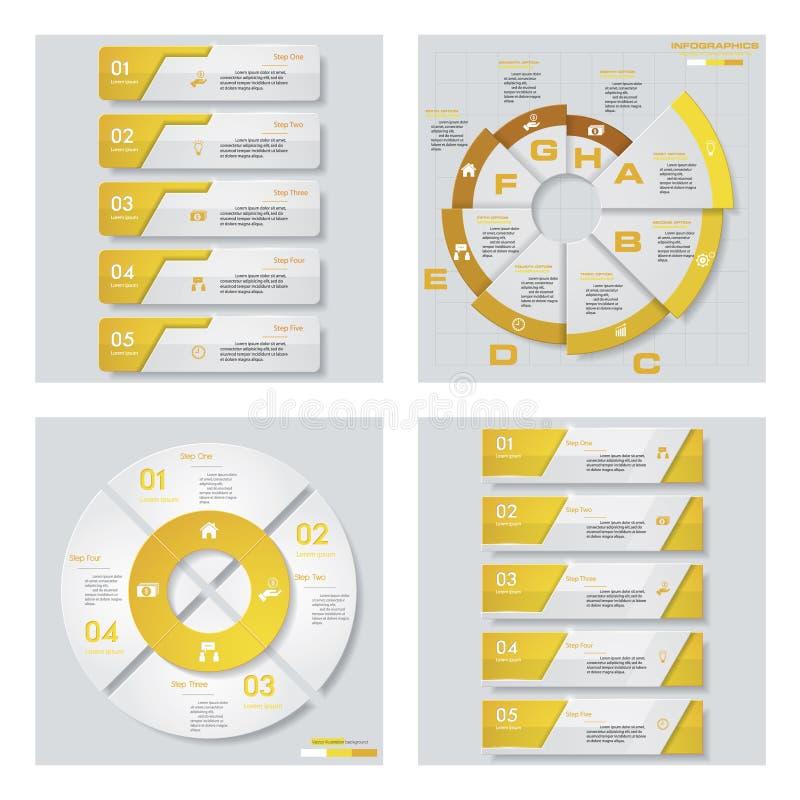 Download Collection De 4 Dispositions Jaunes De Calibre/graphique Ou De Site Web De Couleur Fond De Vecteur Illustration de Vecteur - Illustration du affaires, dessin: 76081416