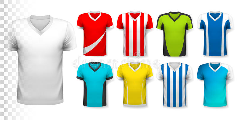 Collection de divers débardeurs de football illustration stock