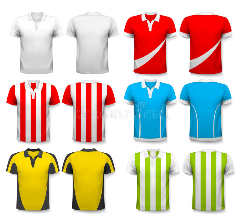 Collection de divers débardeurs de football illustration libre de droits