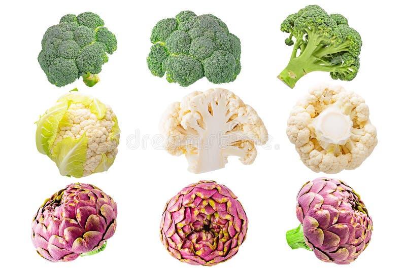 Collection de divers légumes d'isolement sur le fond blanc photo libre de droits
