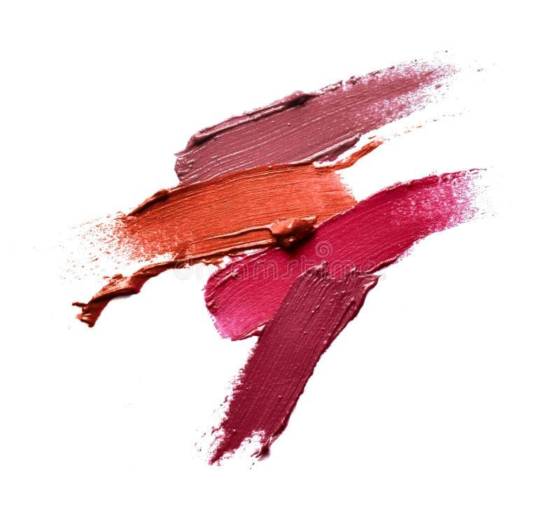Collection de divers rouge à lèvres de calomnies photo stock