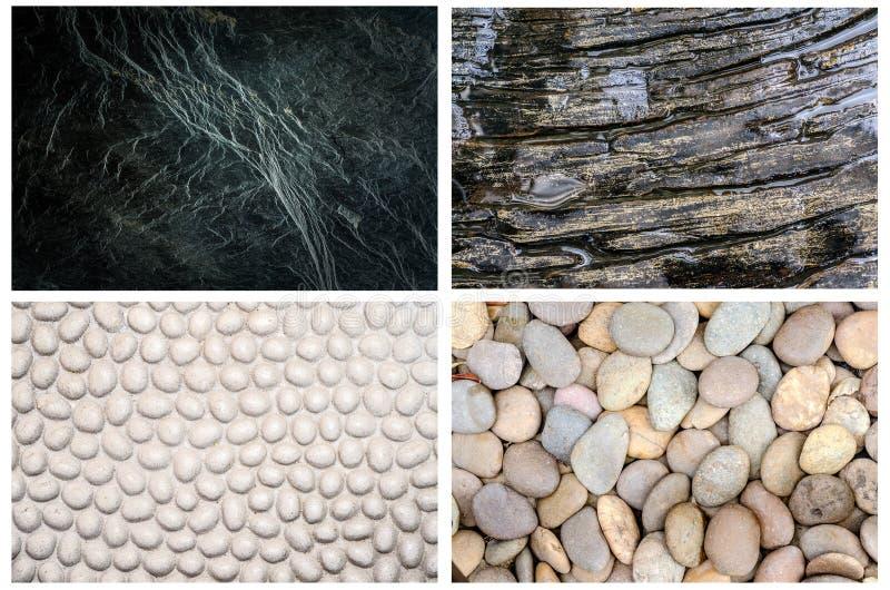 Collection de diverse texture naturelle de mur en pierre pour le fond image stock
