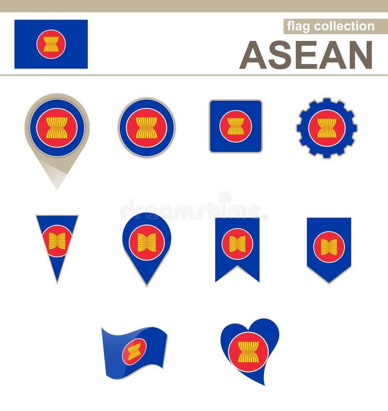 Collection de drapeau d'ASEAN illustration libre de droits